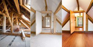 Réalisation d'un aménagement de combles d'une maison à Louhans